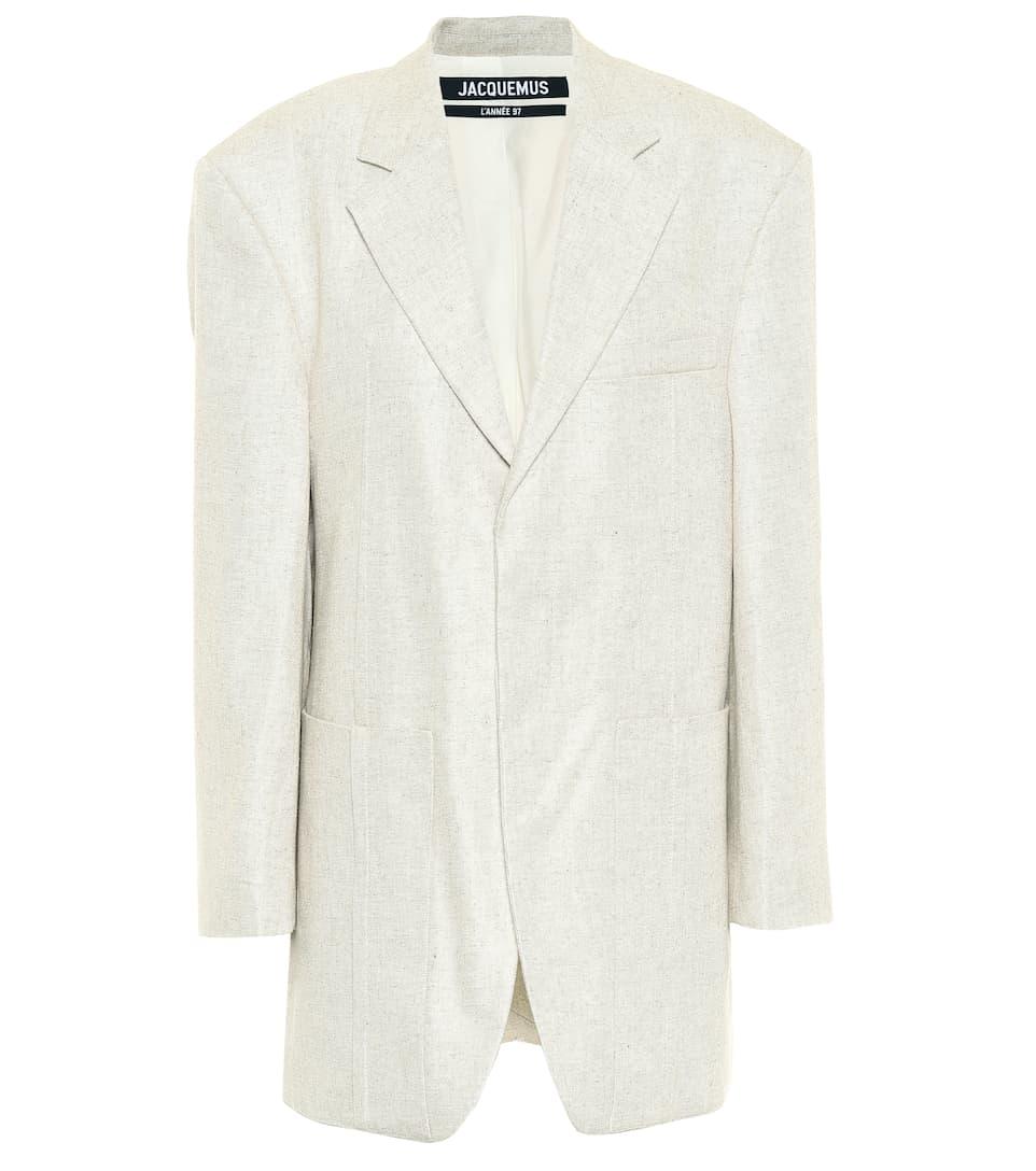 Linen Blend Oversized Blazer