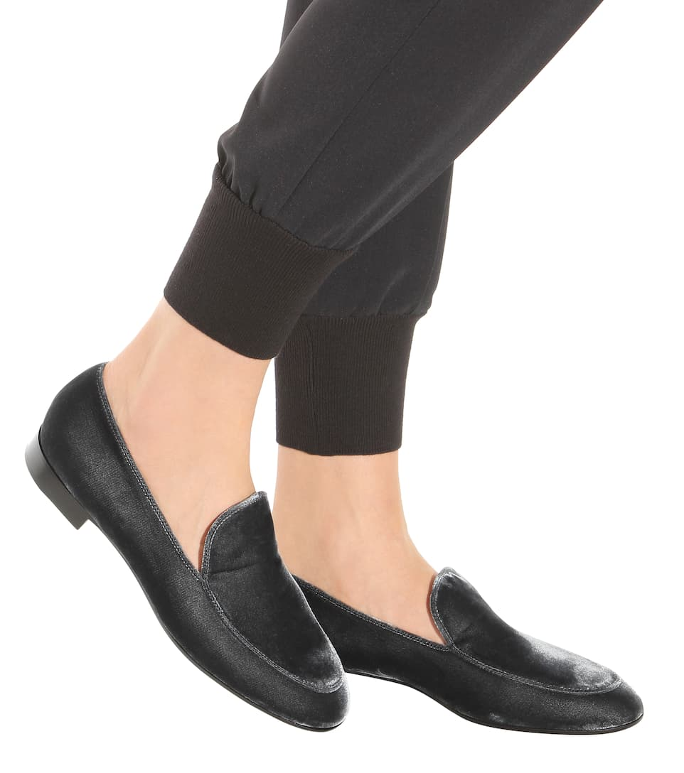 Gianvito Rossi Loafers Marcel aus Samt