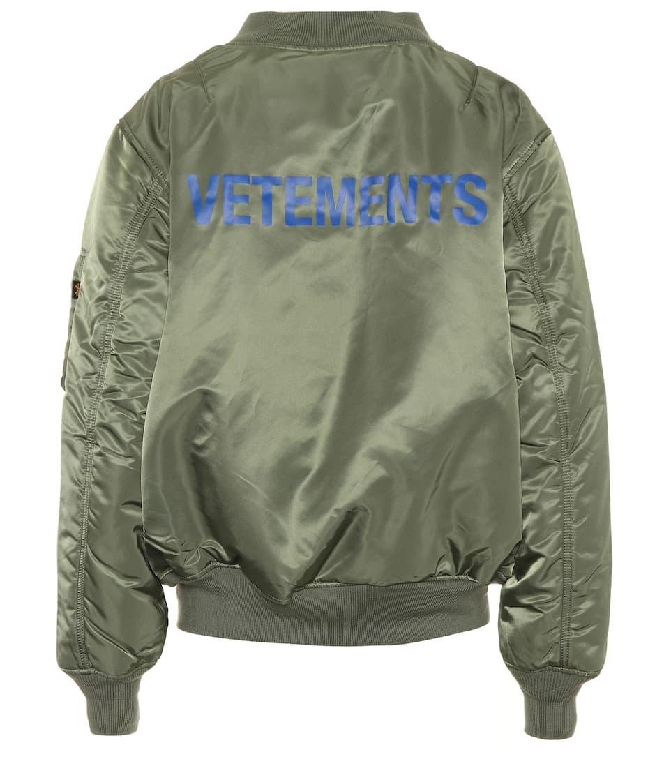 Reversible Green Alpha Industries Edition Logo Bomber Jacket