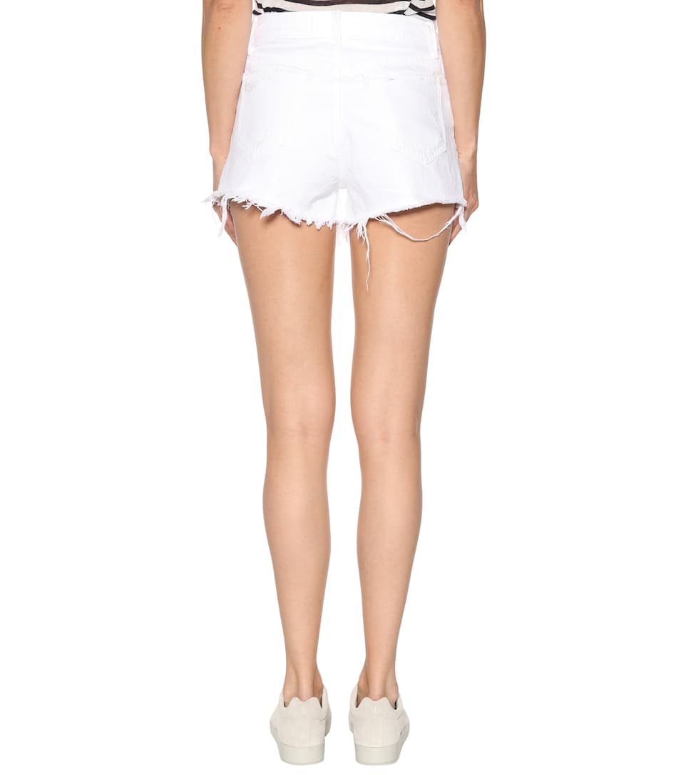 T by Alexander Wang High-Rise Fitted Shorts Bite