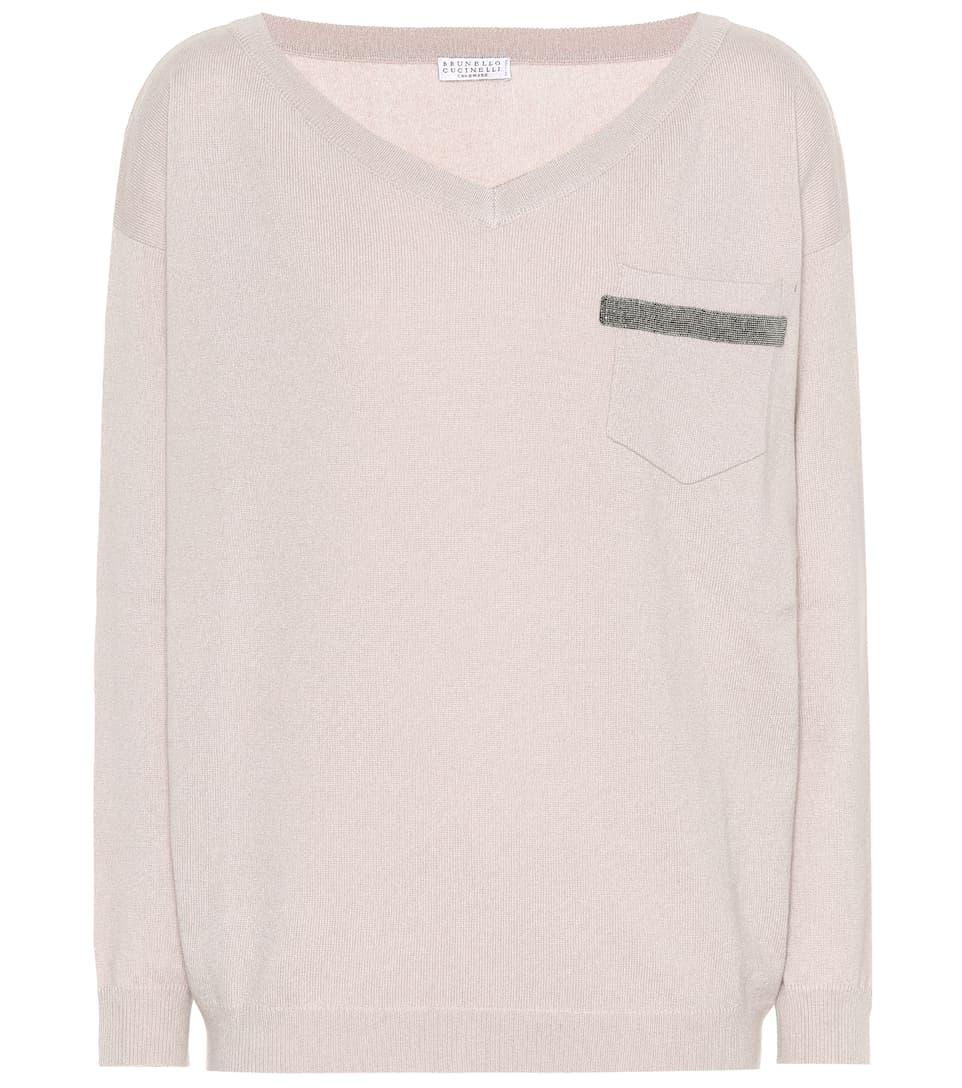 Brunello Cucinelli Verzierter Pullover aus Cashmere