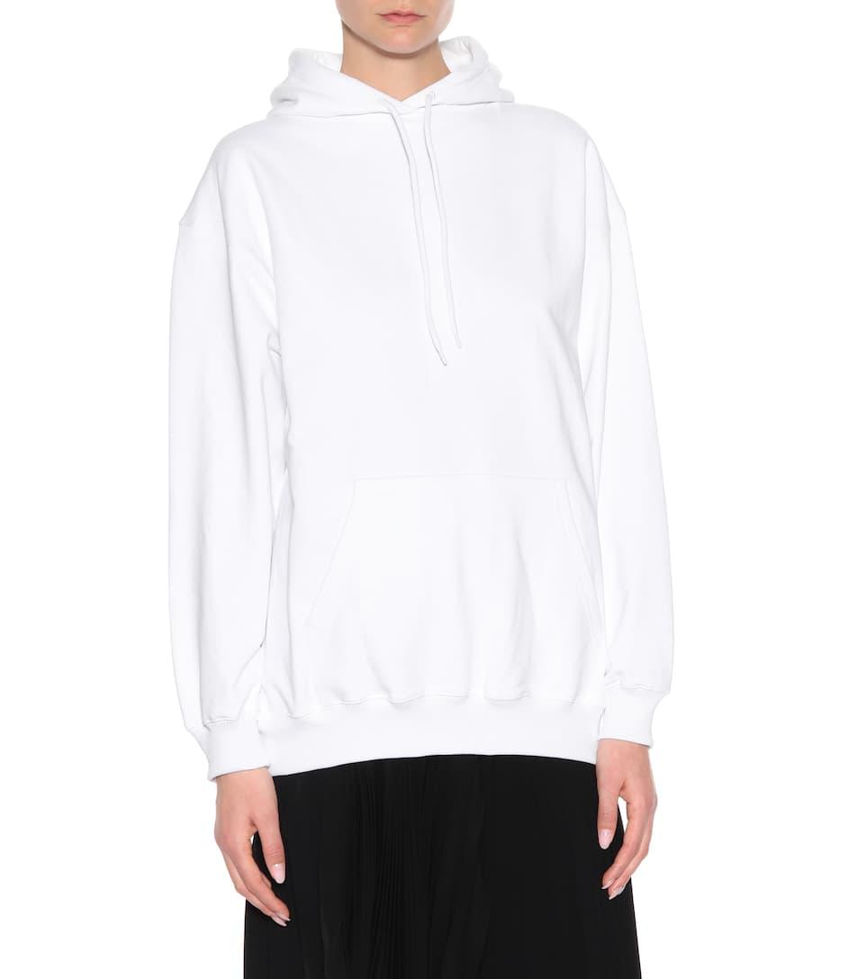 algodón Balenciaga Sudadera Blanc de estampada cqwOpO7Y5v