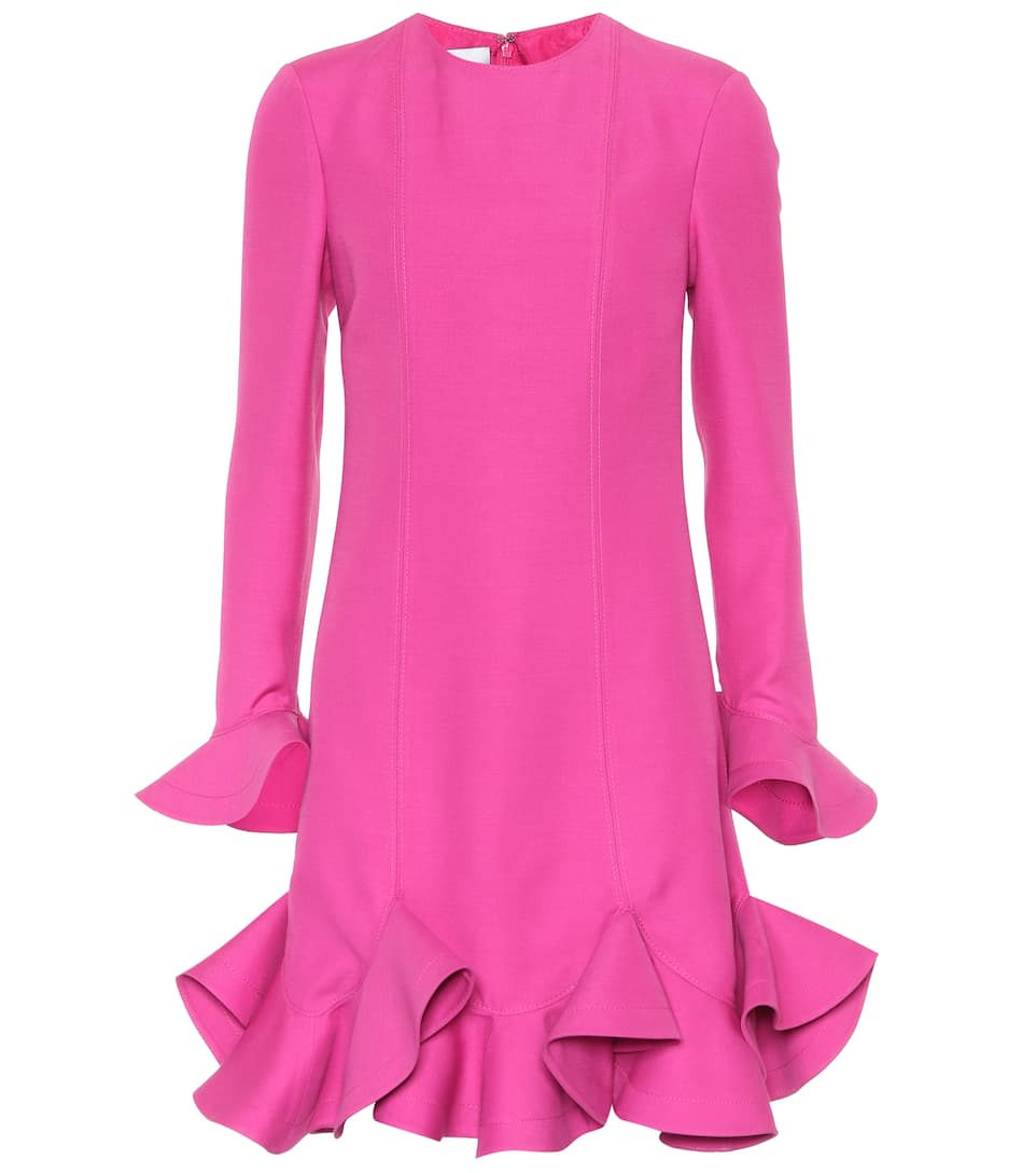 Minivestido de Rosa Fuschia y lana seda Valentino 7dp67