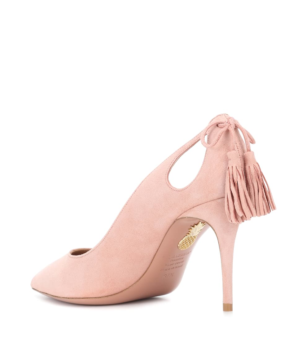 Aquazzura Forever Marilyn 85 suede pumps French Rose Huge Range Of xwfkv