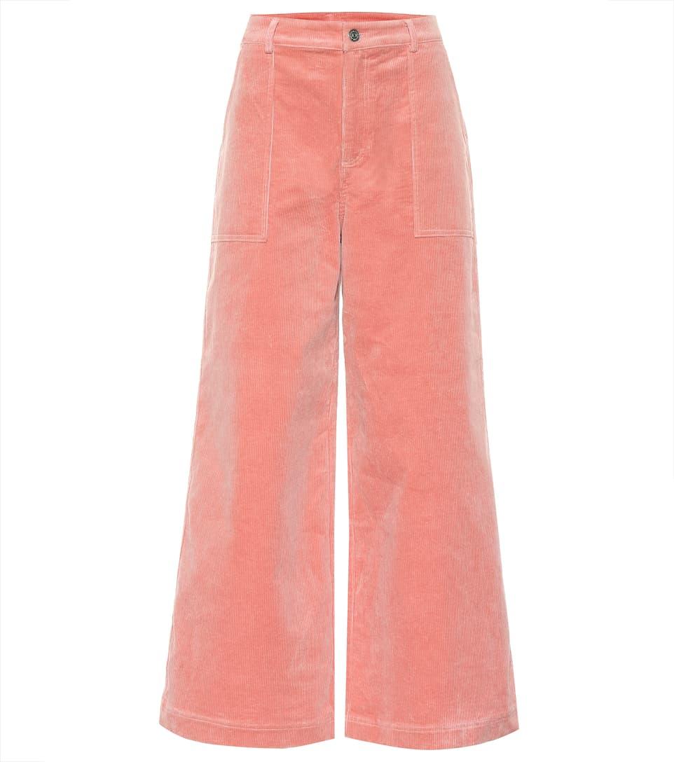 3bd9349b7067a1 Stretch Corduroy Wide Pants - Ganni | mytheresa
