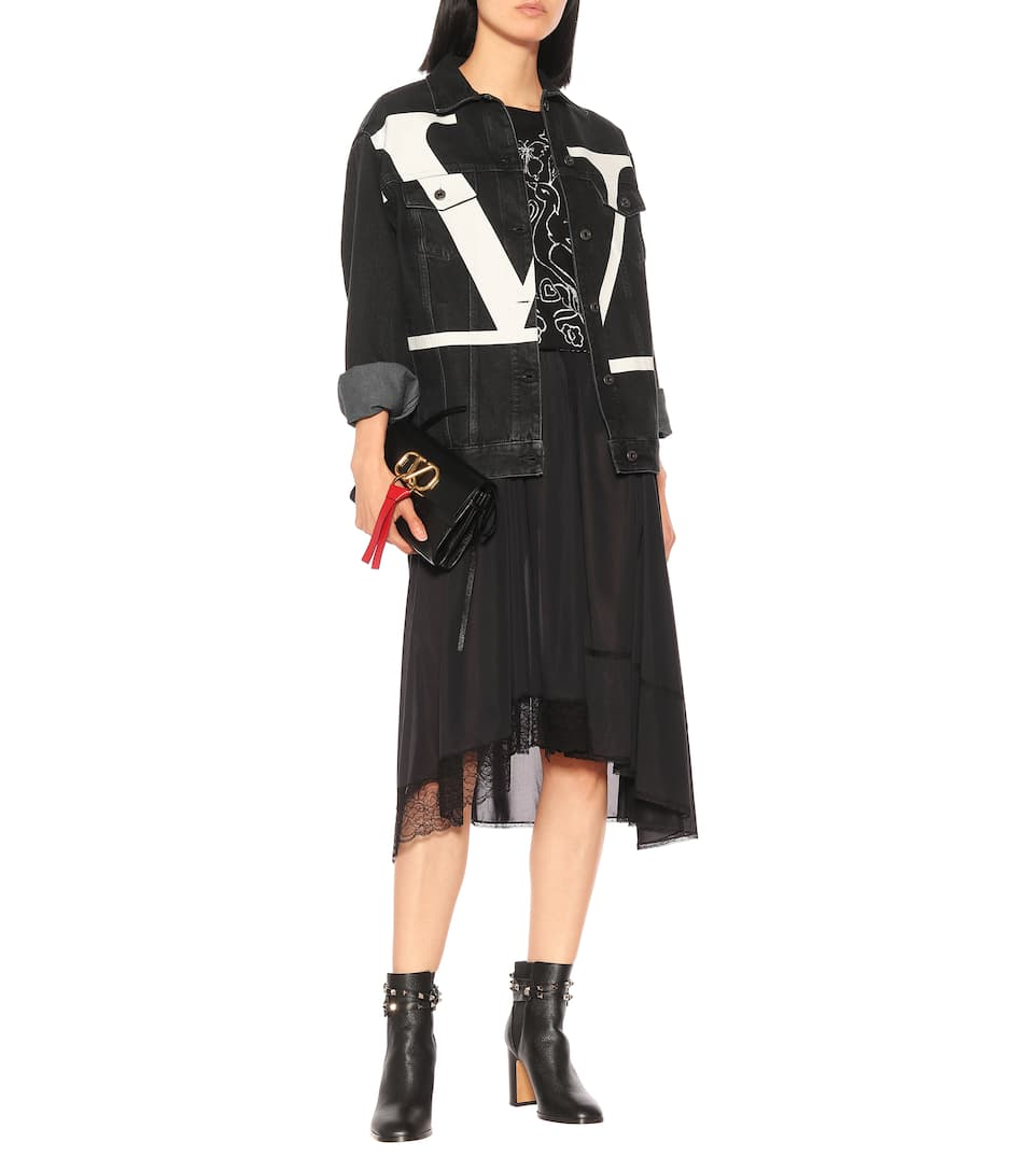 Rockstud Leather BootsN° Ankle Garavani Valentino Artnbsp;p00396806 nw0P8Ok