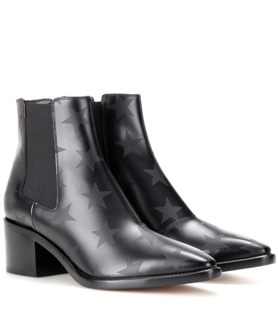 Valentino Printed leather ankle boots