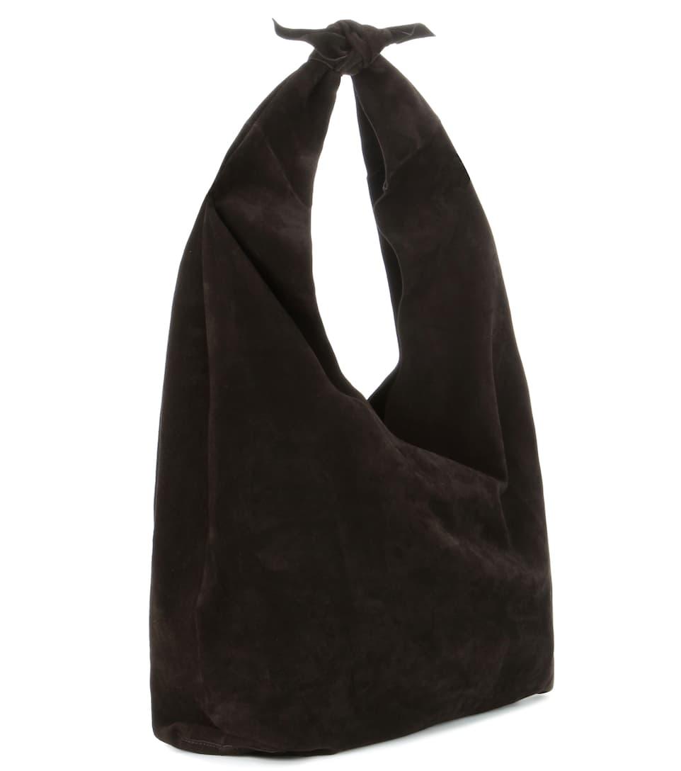 Wo Zu Kaufen The Row Schultertasche Bindle aus Veloursleder Rabatt Offizielle Seite nAKMj