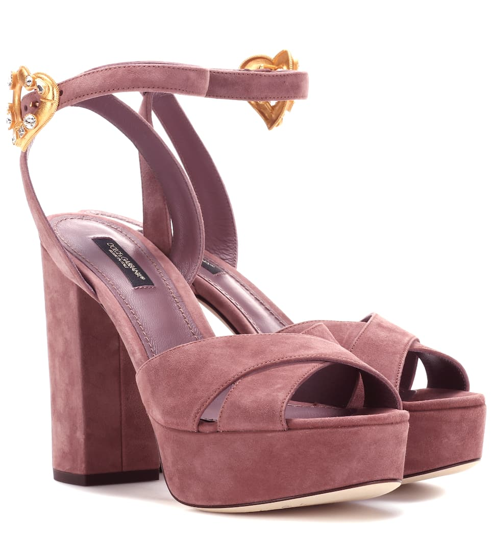 Exclusive to mytheresa.com - suede plateau sandals Dolce & Gabbana ZFAKak