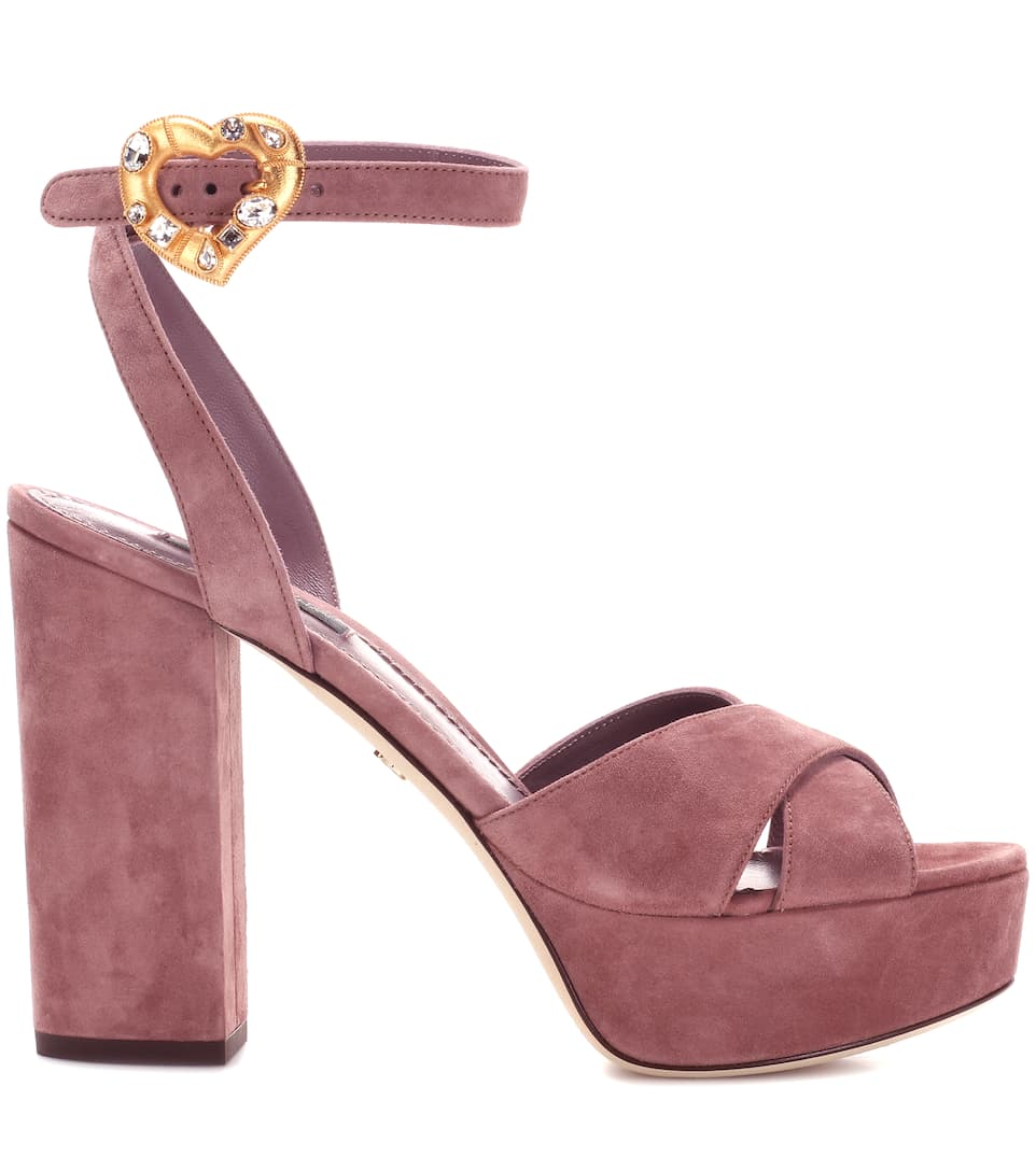Exclusive to mytheresa.com - suede plateau sandals Dolce & Gabbana SgvyzXaM