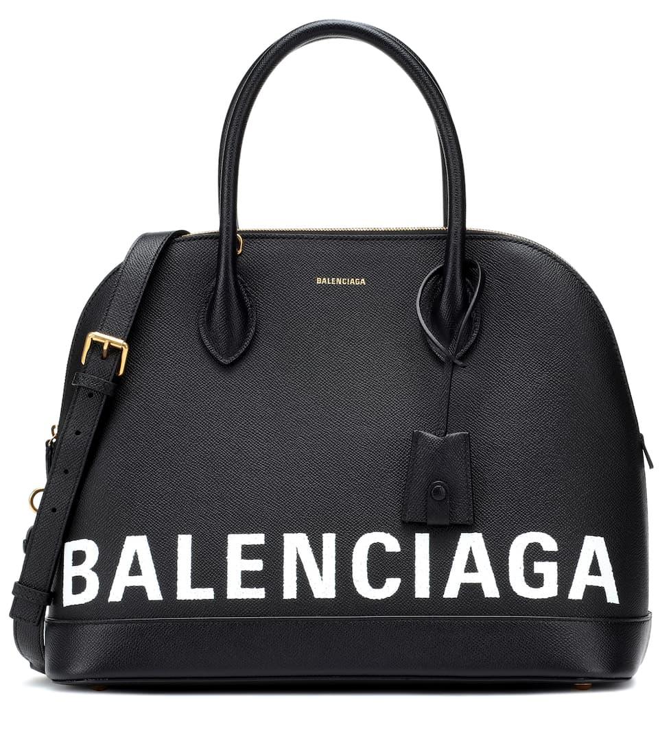 Ville M de Blanco Negro cuero Balenciaga tote 5dtwaH5q