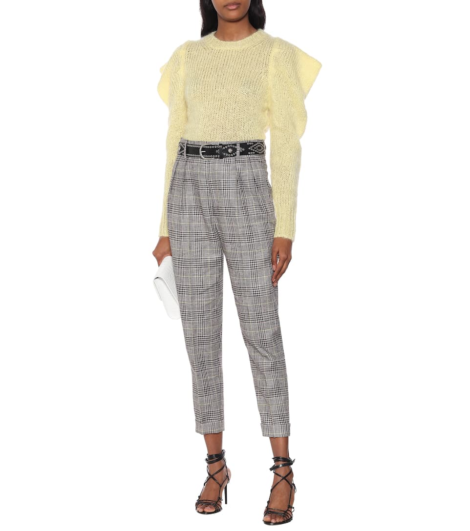Ceyo Checked High-Rise Slim Pants | Isabel Marant - Mytheresa