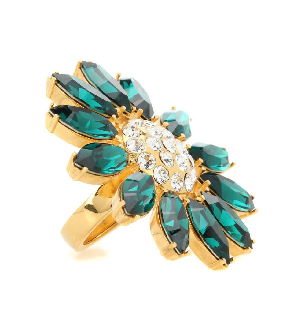 Miu Miu Ring mit Kristallsteinen