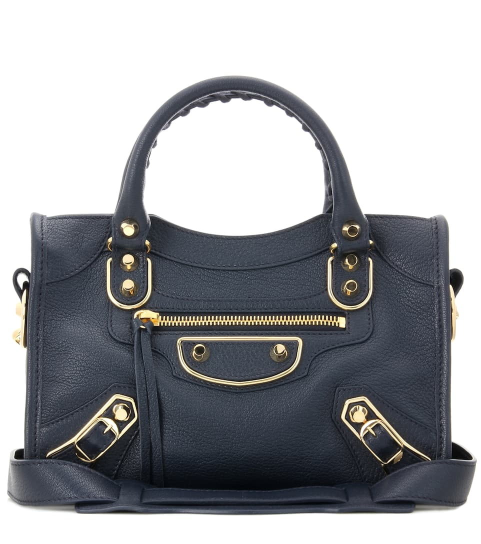 Sac en cuir Classic Metallic Edge City Mini