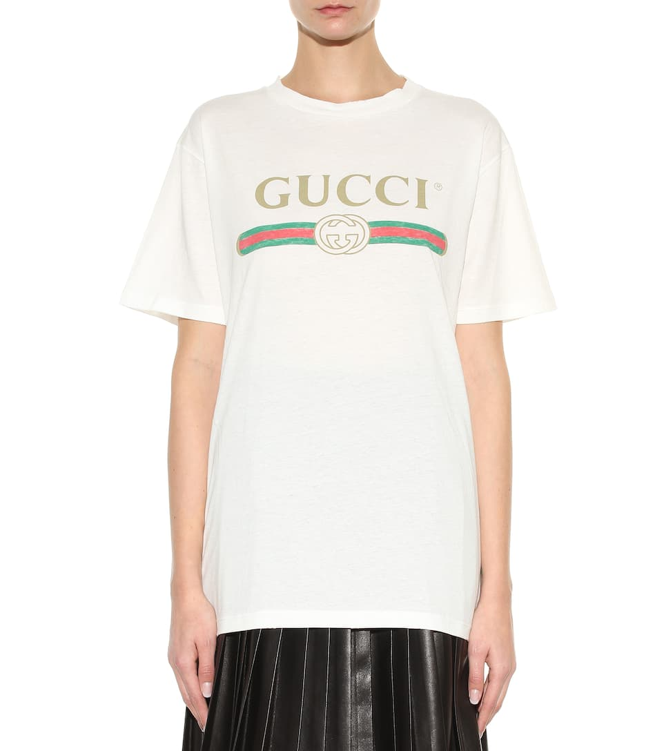 gucci printed cotton t shirt. Black Bedroom Furniture Sets. Home Design Ideas