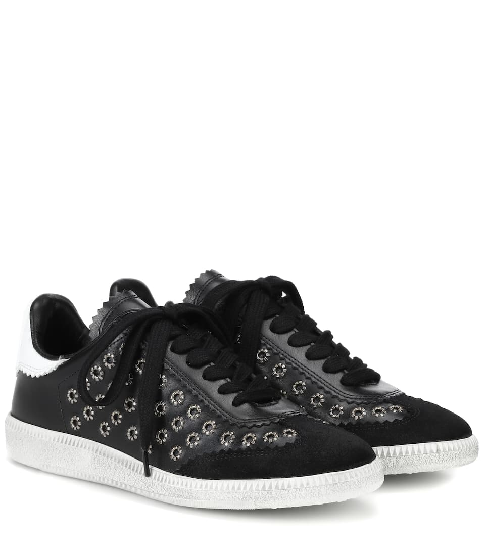 Bryce embellished leather sneakers Isabel Marant Q4pkhX