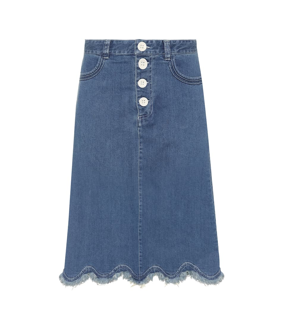 See By Chloé Jeansrock mit Distressed-Details