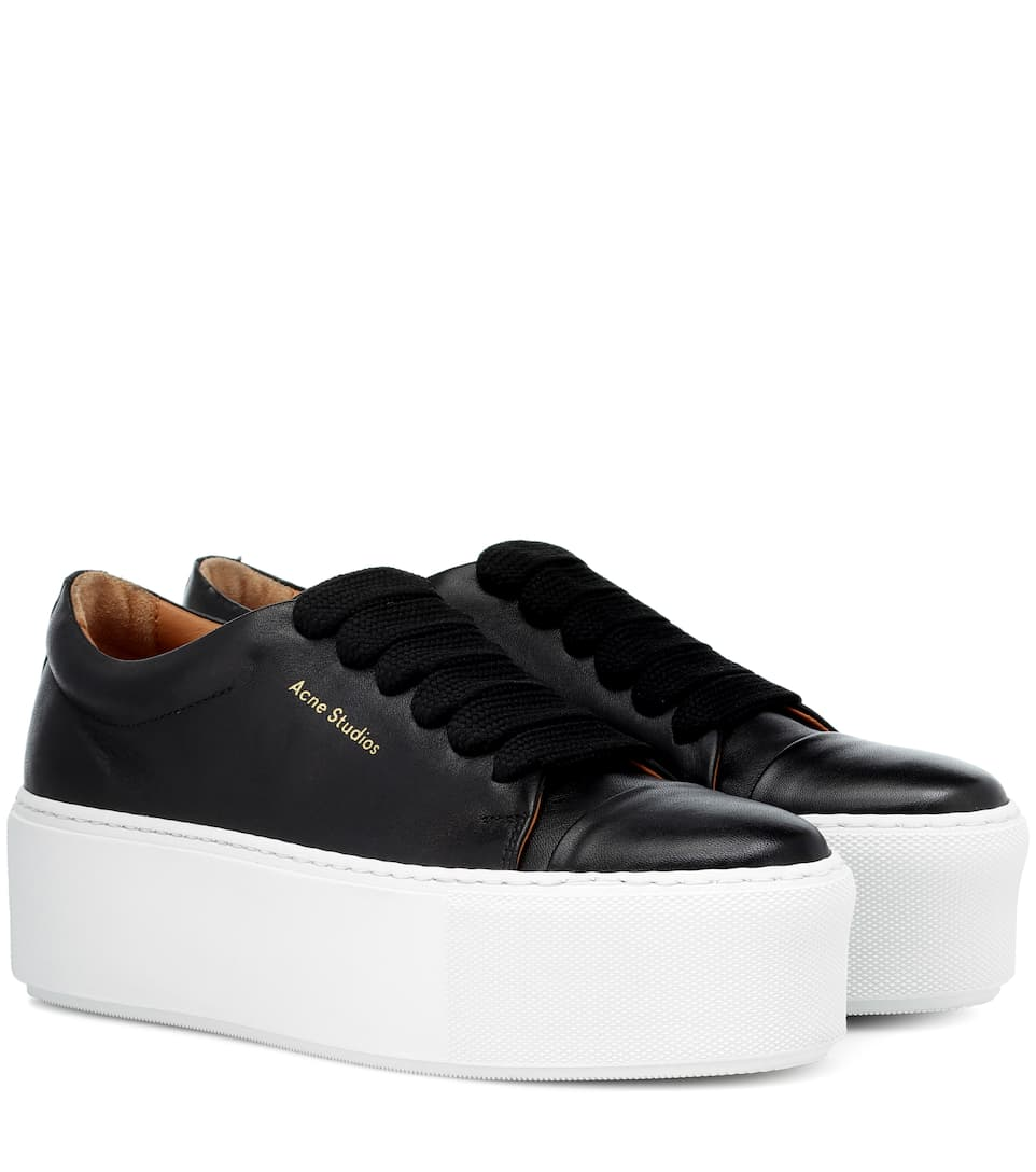 15dbdde02b Drihanna Platform Leather Sneakers | Acne Studios - mytheresa