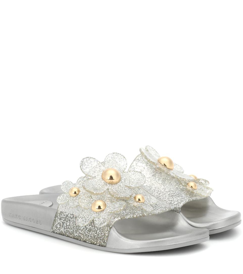 Marc Jacobs Mules à paillettes et ornements Daisy