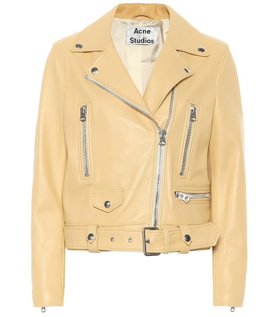 0dbc574576b Mock Leather Jacket - Acne Studios | mytheresa.com