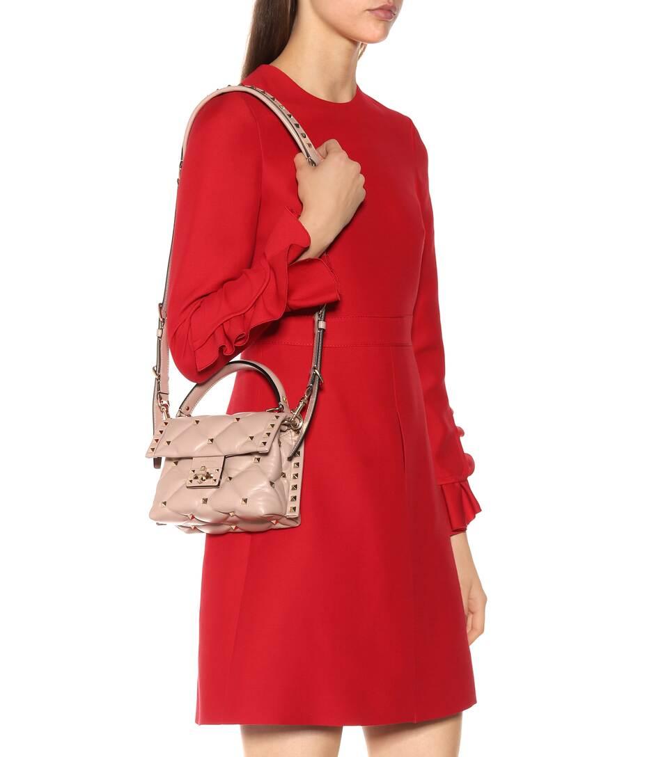 1a06aa9e0ca Valentino - Valentino Garavani Candystud Mini leather shoulder bag ...