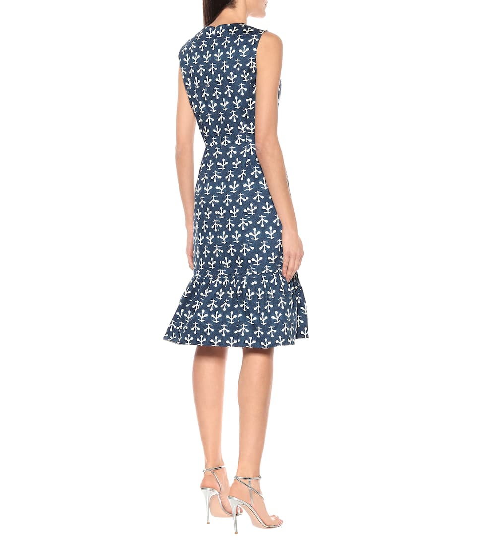 Oscar de la Renta - Exclusive to Mytheresa – Printed stretch-cotton poplin dress