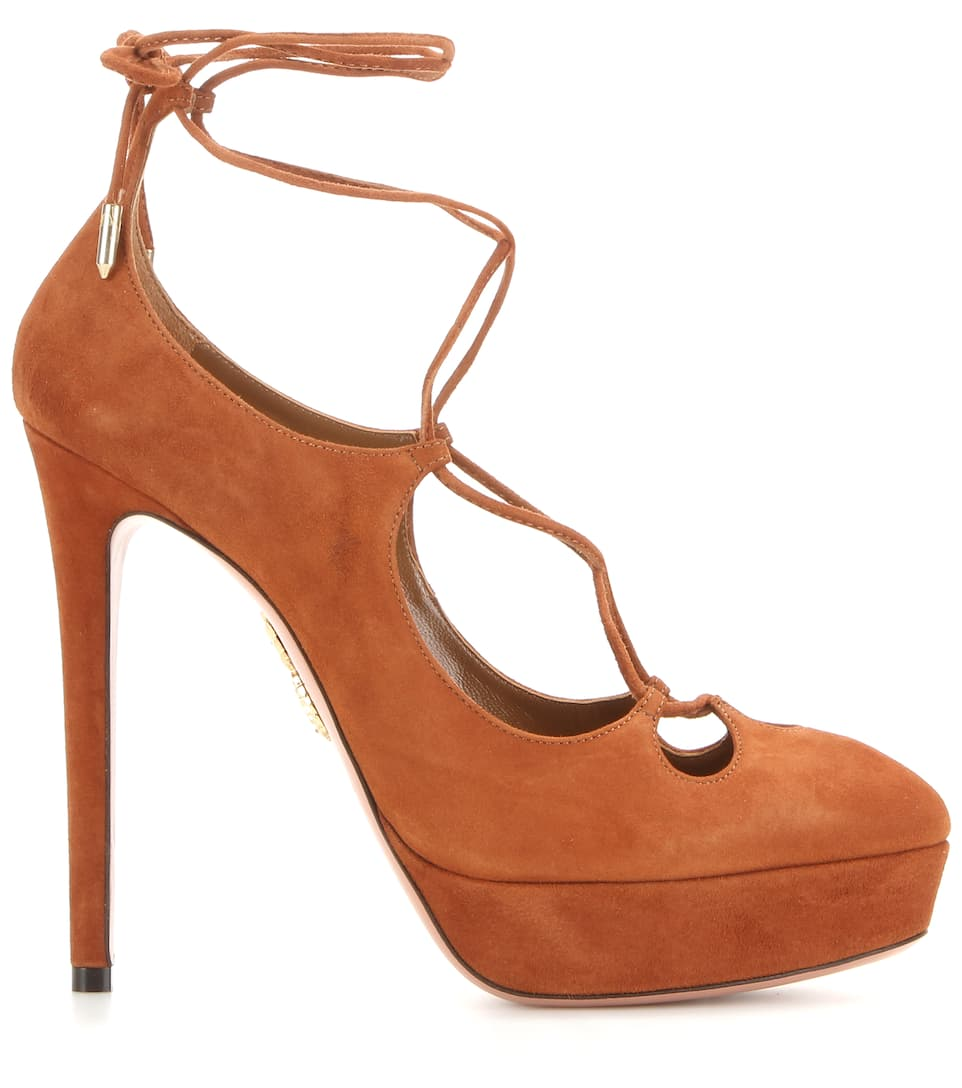 Aquazzura Dancer Plateau 130 suede pumps dYTv2bcSy