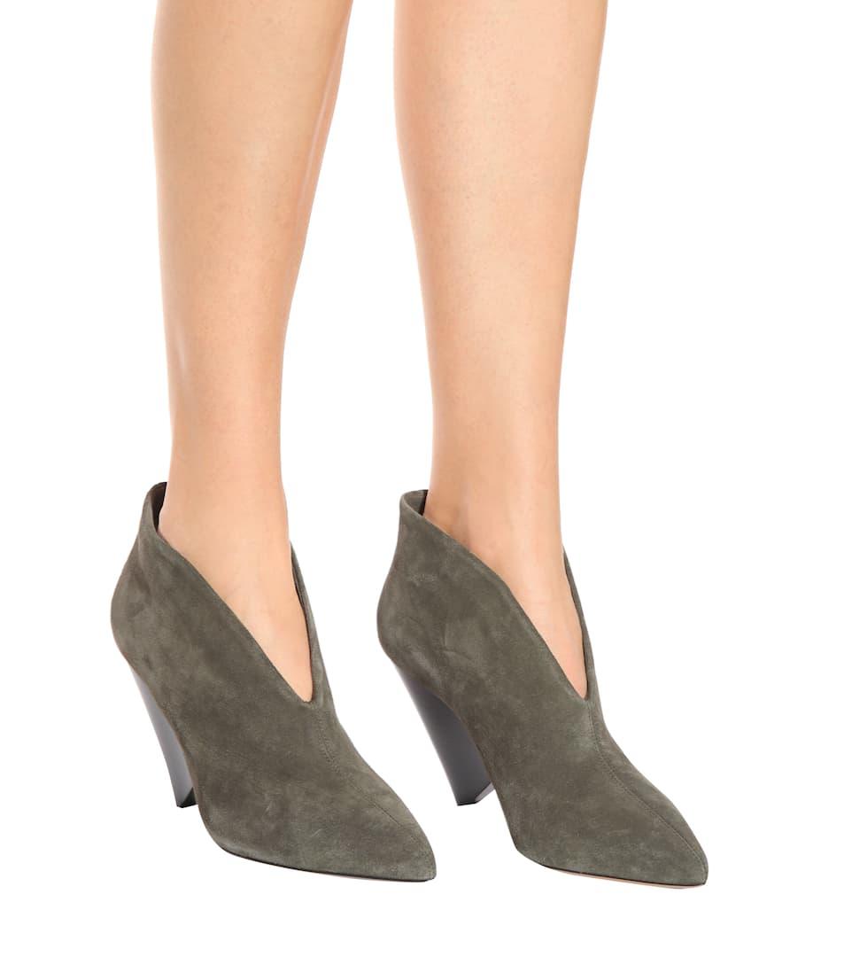 Isabel Marant Ankle Boots Adenn aus Veloursleder