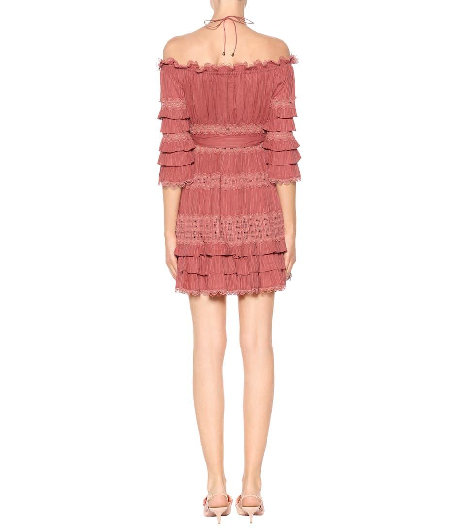 Kosten Günstige Top-Qualität Zimmermann Minikleid aus Baumwolle Erkunden Günstigen Preis  Um Online Kaufen 4vkic