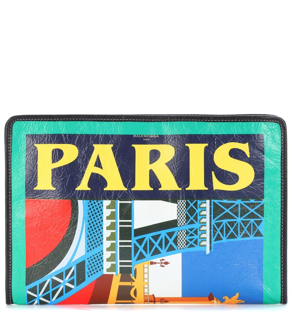 Balenciaga Clutch Bazar Paris aus Leder