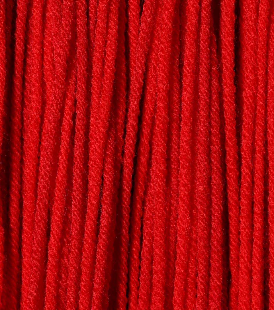 Coût Acheter Pas Cher D'origine Calvin Klein 205W39NYC - Robe en résille de laine à franges Sortie Acheter Obtenir iGLapk