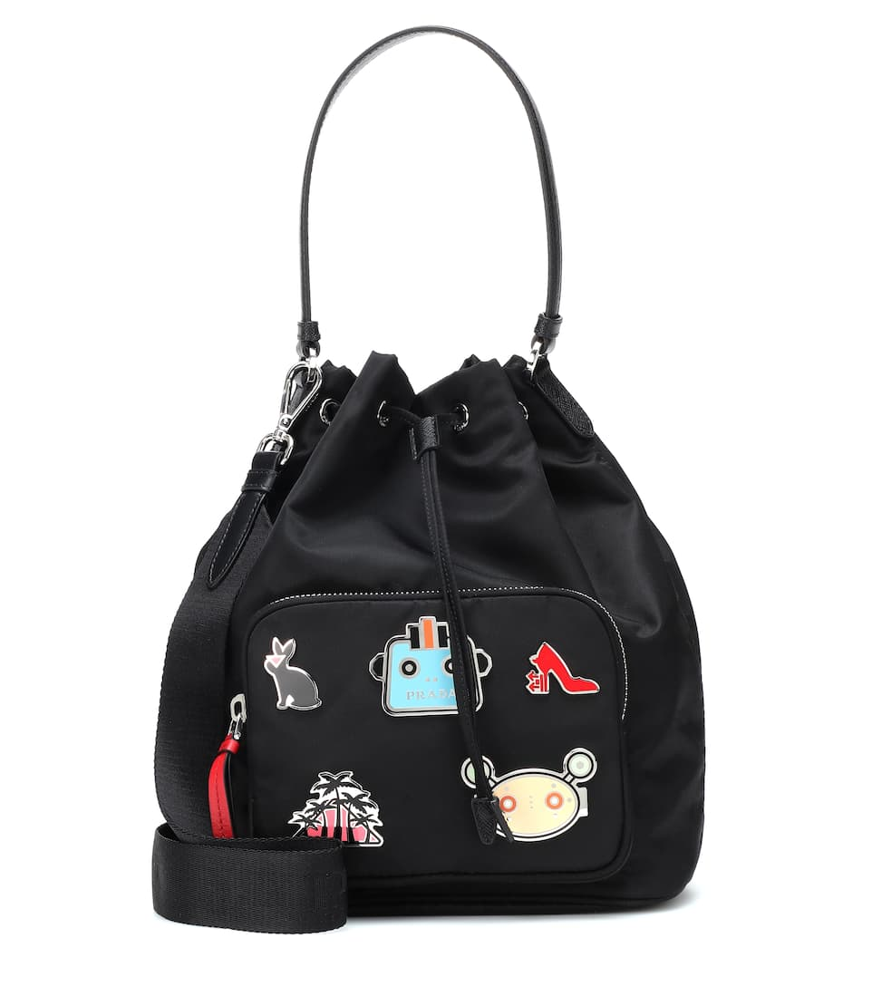 Embellished Bucket Bag by Prada