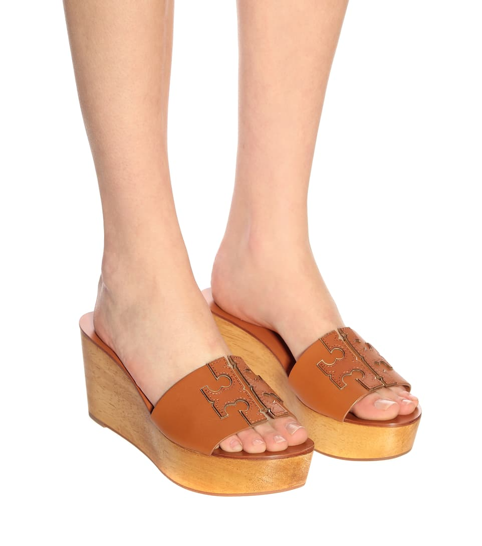 0095b82c2320 Ines 80mm leather wedge sandals. Tory Burch
