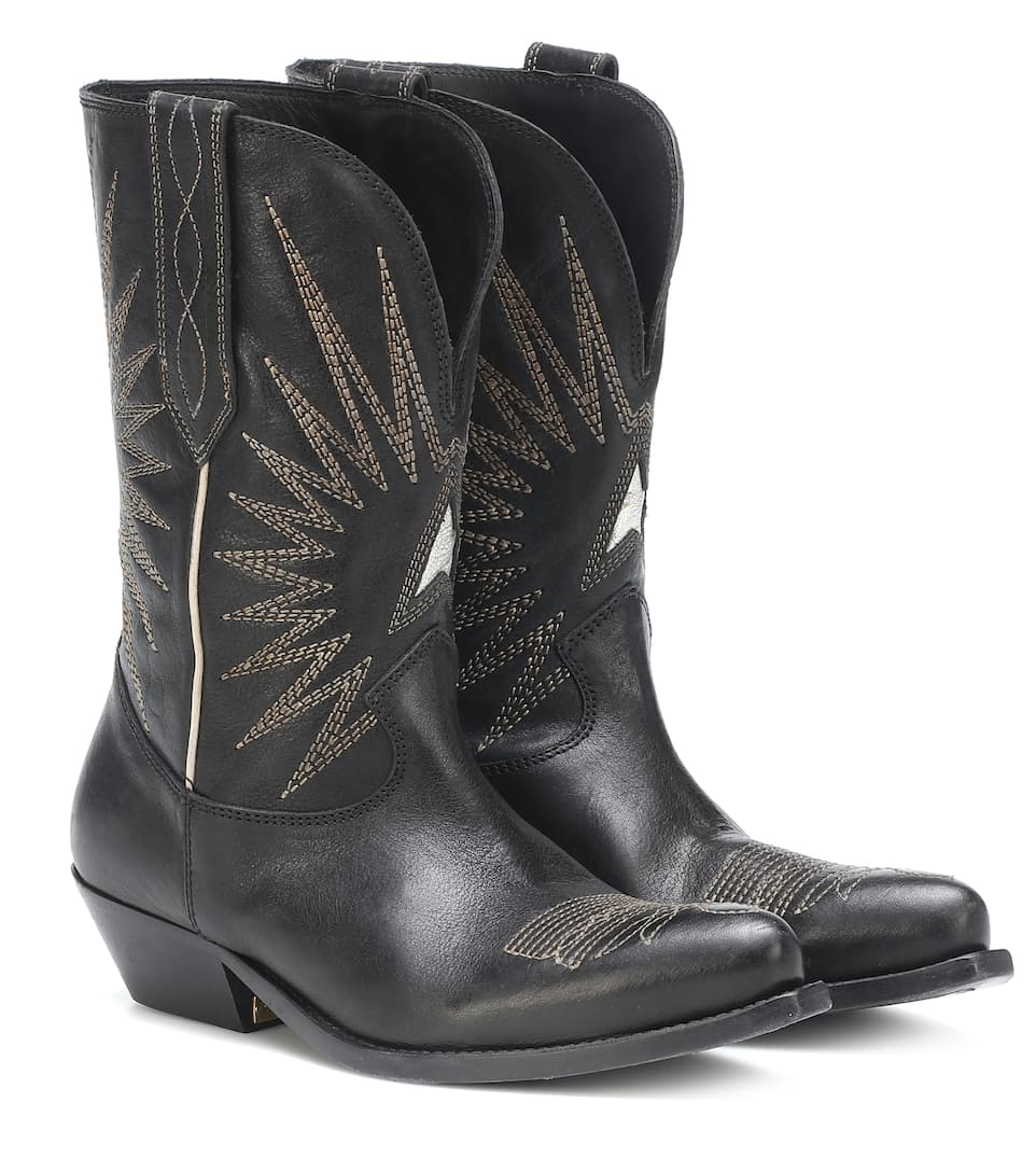 Wish Star Leather Cowboy Boots - Golden Goose Deluxe Brand  bf64316157e
