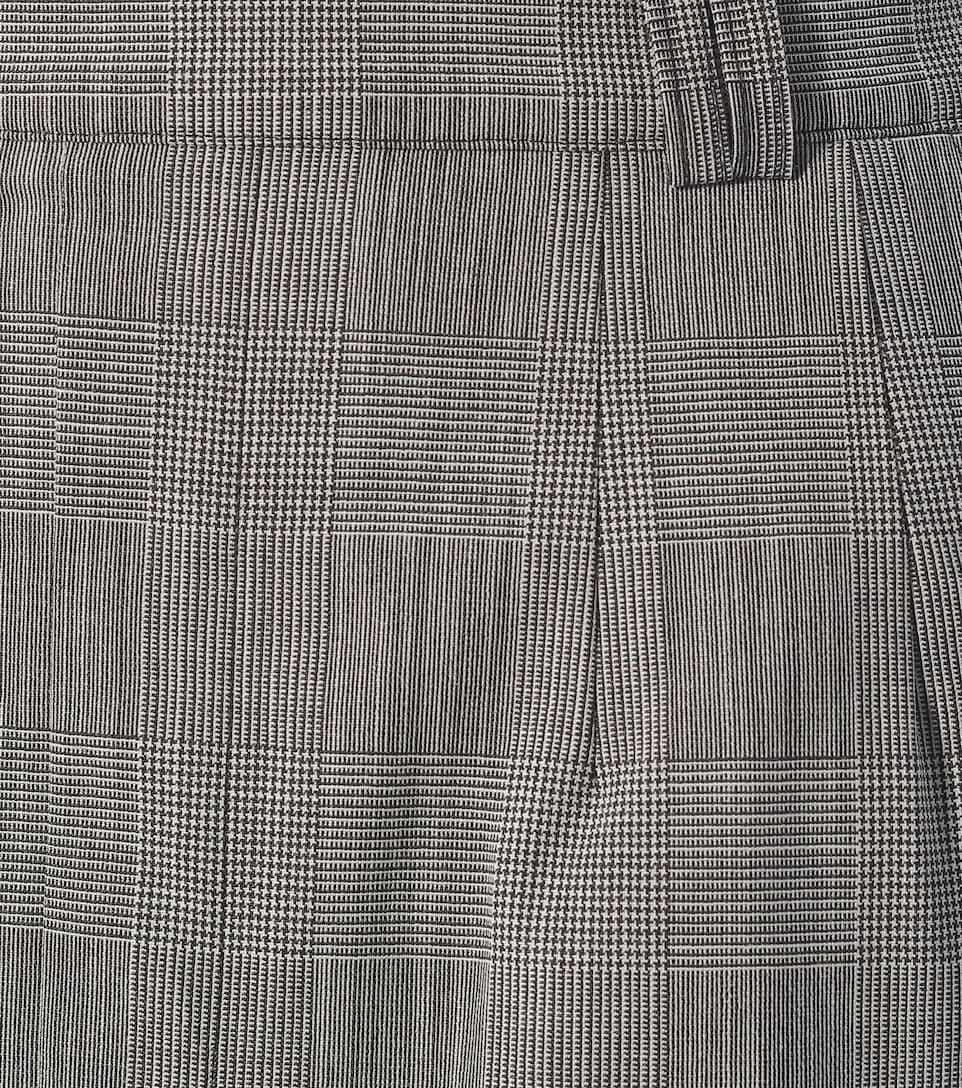 Vetements - Checked wool-blend shorts