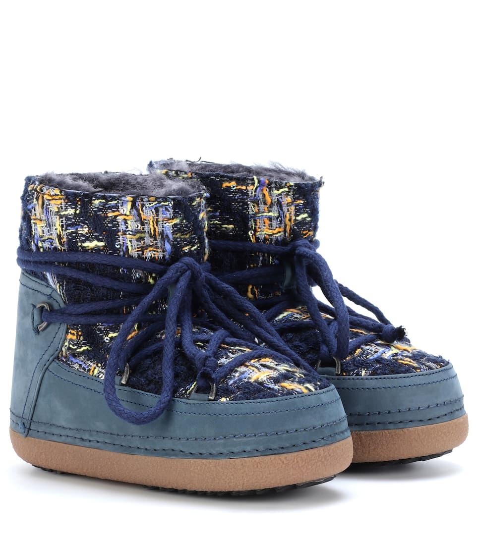 Leder-Boots English Tartan mit Shearling INUIKII Online Kaufen Neue Rabatt Amazon Freies Verschiffen Nagelneues Unisex Neue Ankunft Günstig Online Gutes Angebot DPGUbRYh