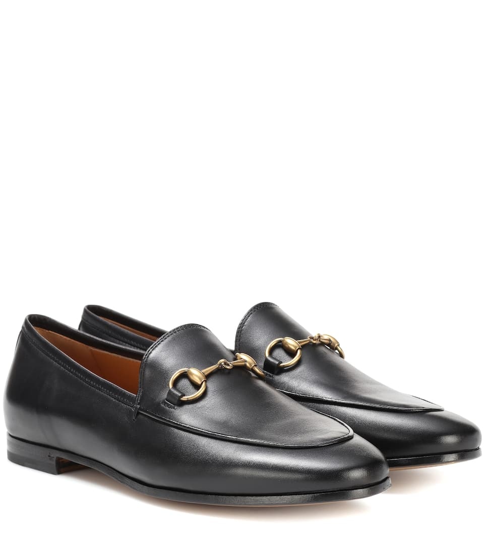 27674779d Jordaan Leather Loafers - Gucci | mytheresa