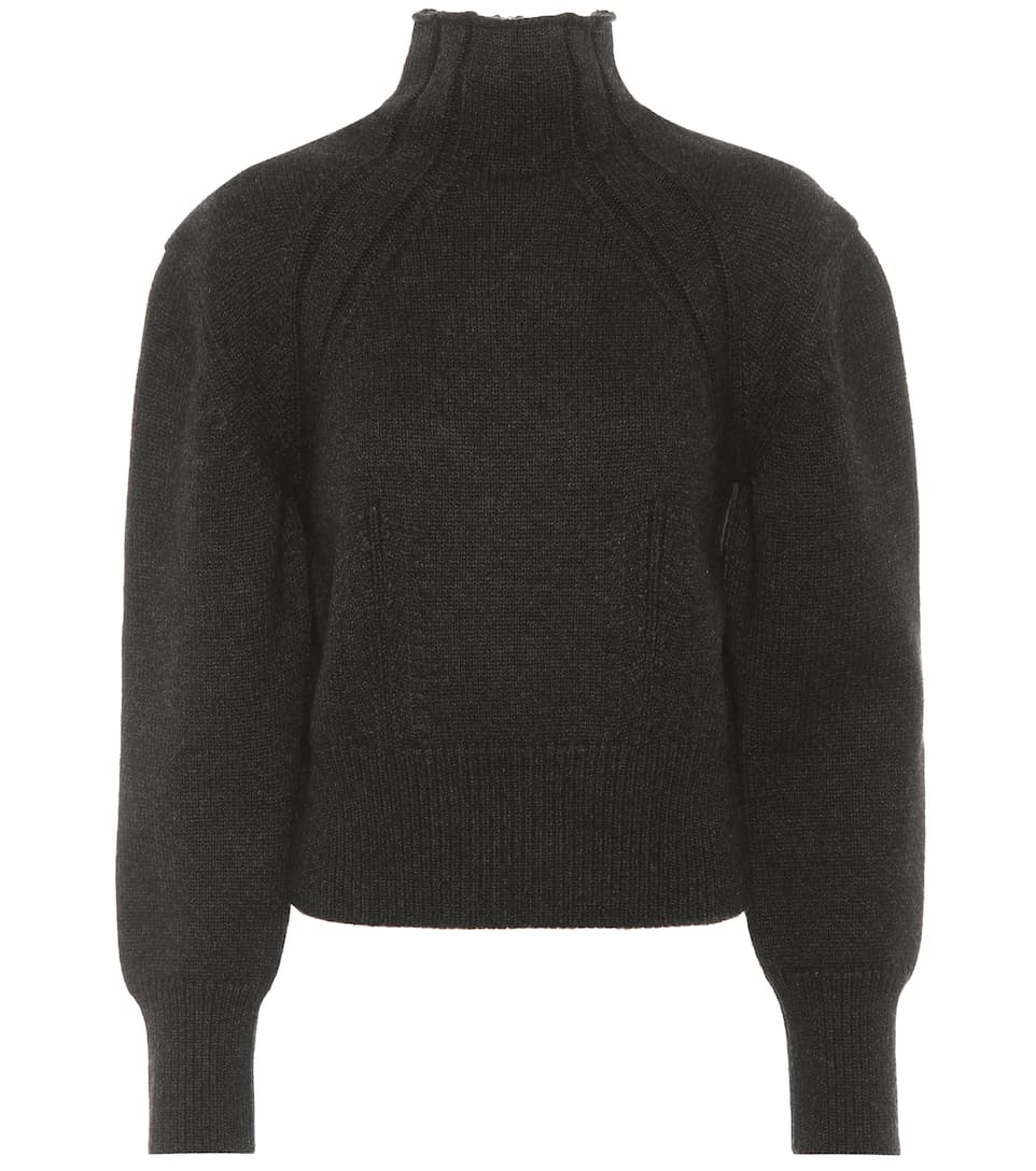 Sale Good Selling Get Authentic Cheap Online Bottega Veneta Wool and cashmere-blend sweater Dark Grey Nero QxkmmlL