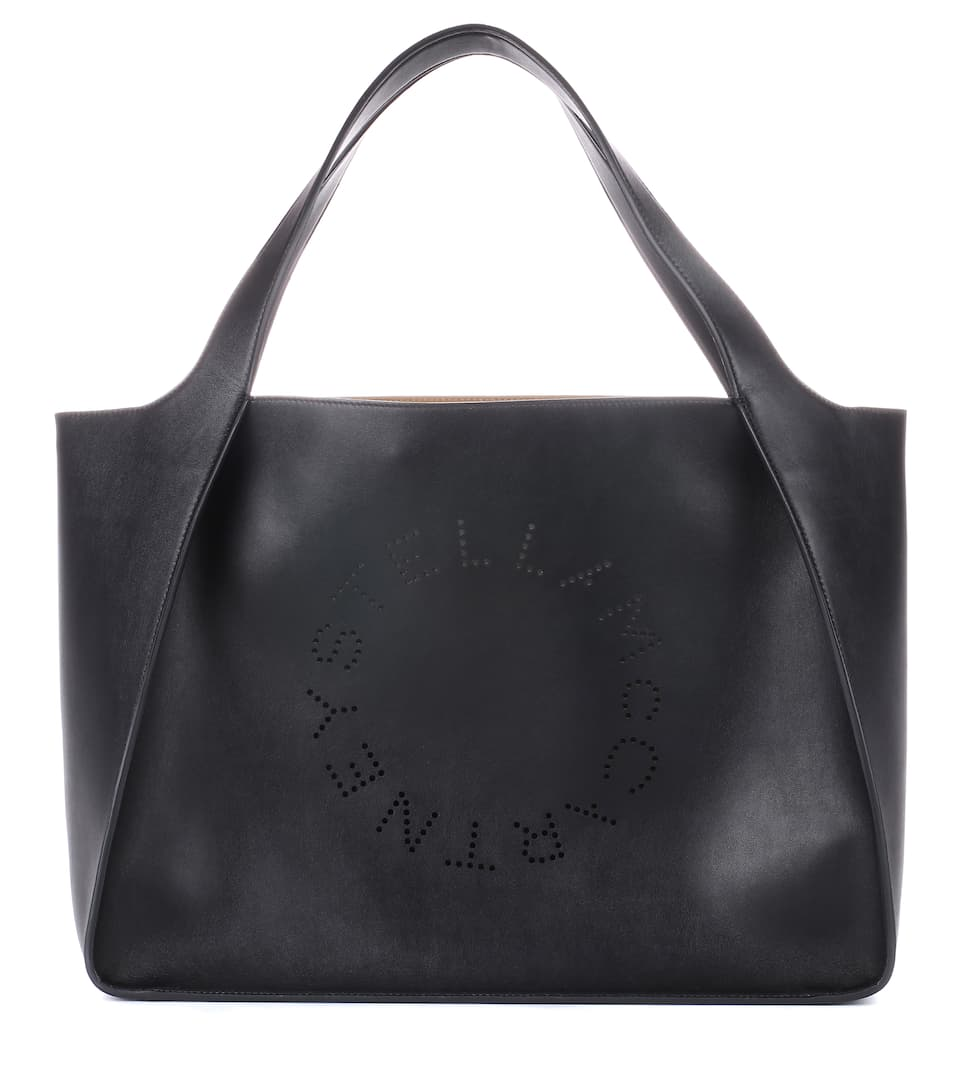 Stella Studded Logo Tote Bag, Black