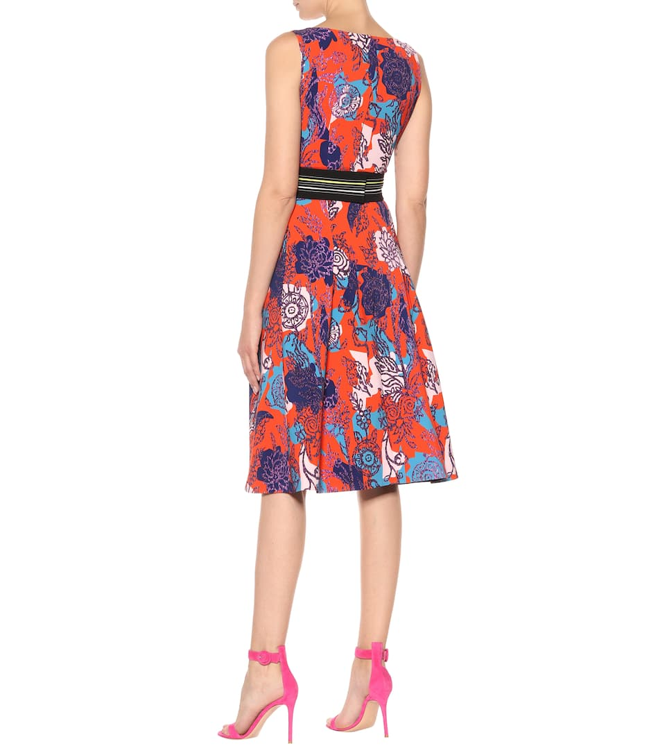 100% Guaranteed Sale Online Buy Cheap Clearance Peter Pilotto Floral-printed cady dress Red Discount Very Cheap To Buy S4IB73ecxT
