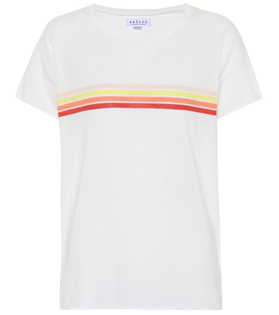 289f5ff353d4 Lex Striped Cotton T-Shirt - Velvet | mytheresa.com