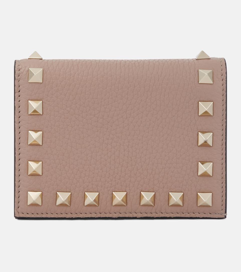 d5cf8e6c0 Valentino Garavani Rockstud Leather Wallet | Valentino - mytheresa