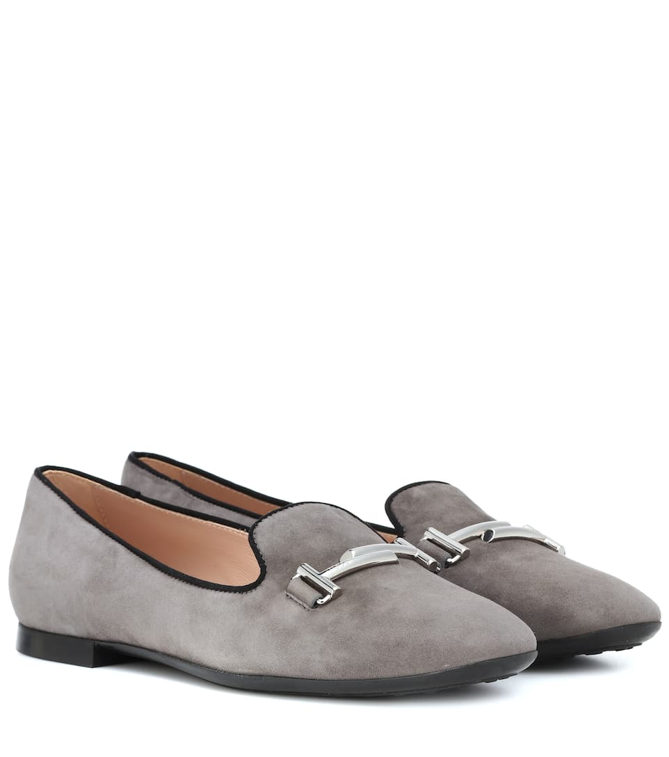 Double T Suede Loafers by Tod's