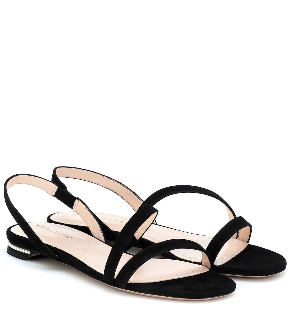 Casati Pearl Suede Sandals - Nicholas