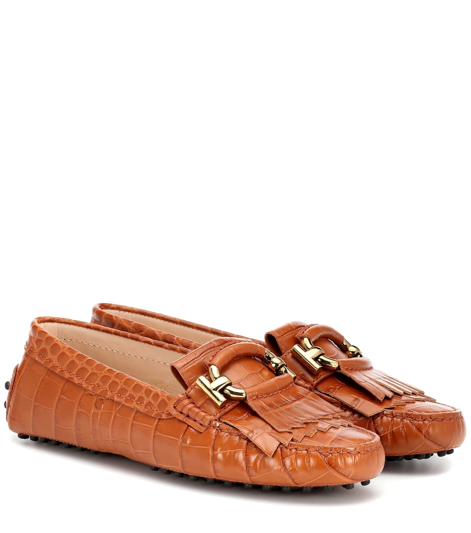 b461c96be6b Tod s - Embossed leather loafers