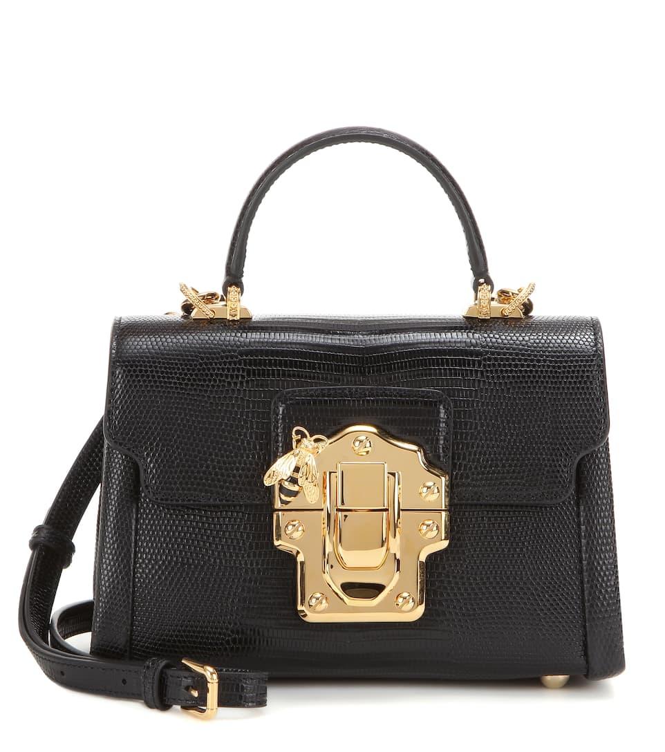 bandolera cuero amp; Dolce Gabbana Negro de amp; Lucia Mini waqXHgqT