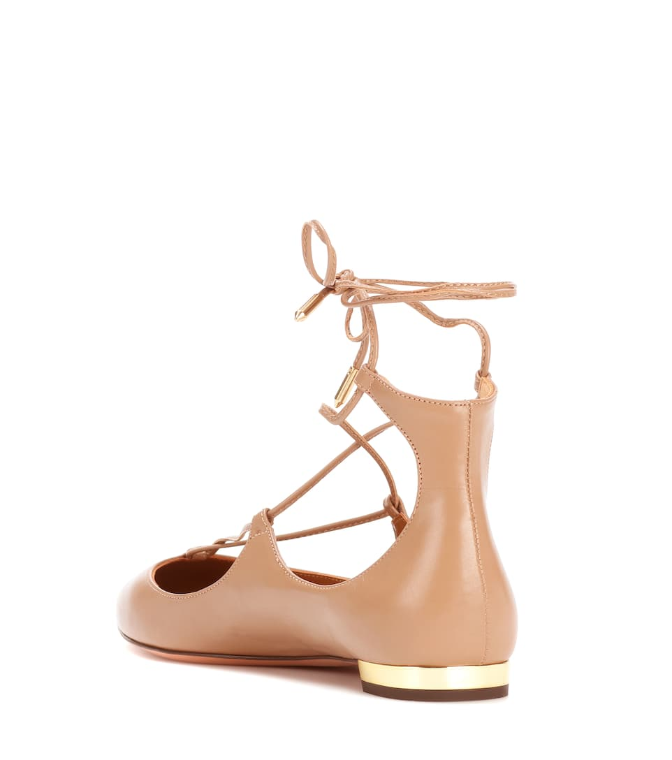 Aquazzura Ballerinas Christy aus Leder