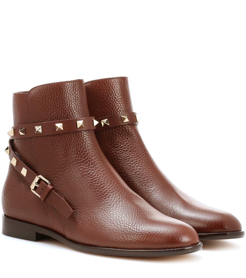Valentino Valentino Garavani Ankle Boots Rockstud aus Leder