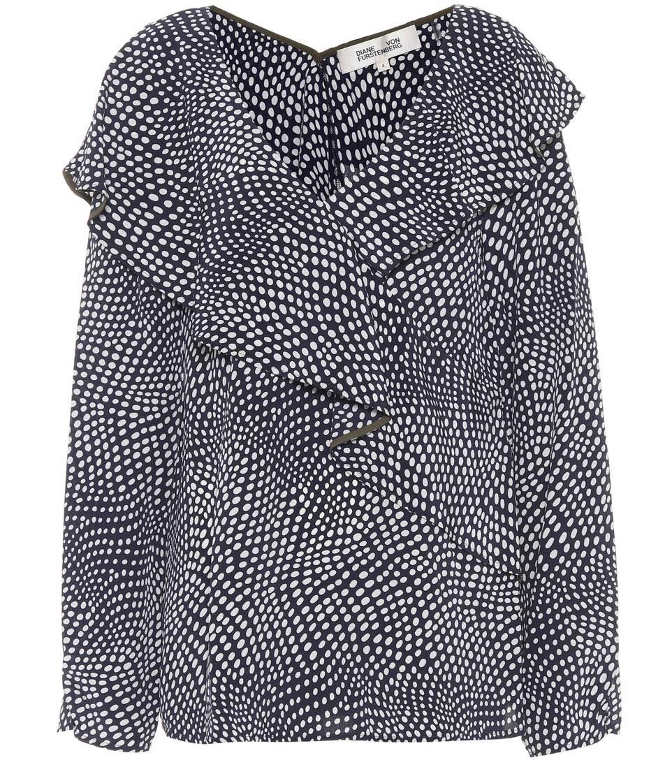 Diane von Furstenberg Bedruckte Bluse aus Seide