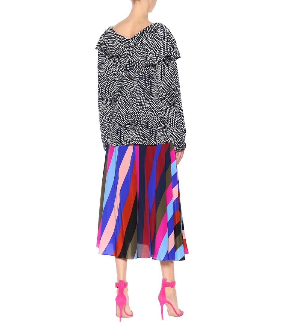 Outlet Rabatt Authentisch Diane von Furstenberg Bedruckte Bluse aus Seide Beliebt Und Billig Sneakernews Online Auslass Extrem rjeZ2c6k5